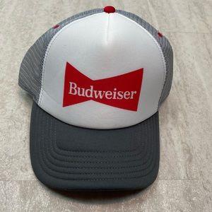Budweiser Trucker hat novelty grey red snapback